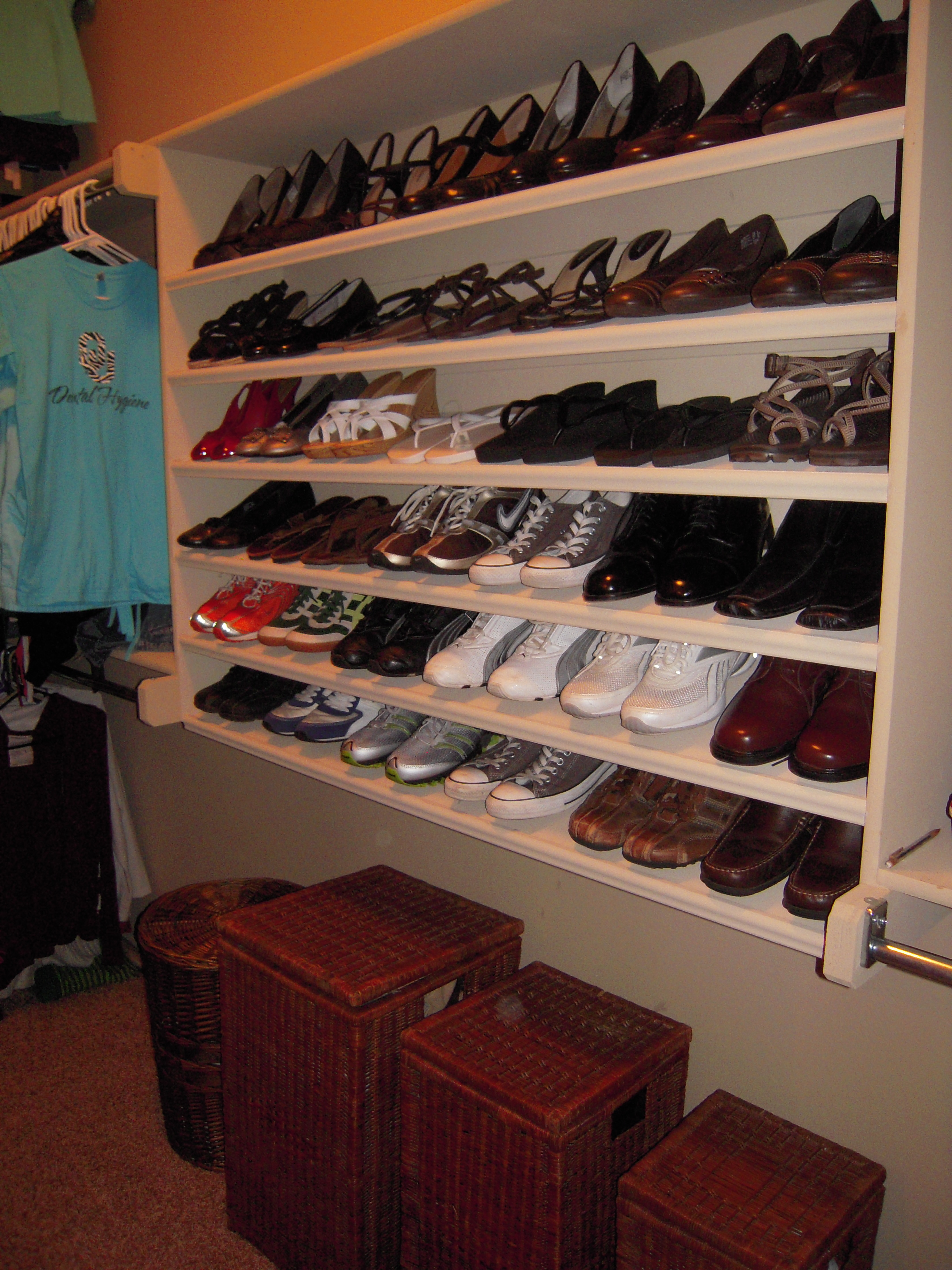 How to build shoe shelves plans diy free download shoe for Building a shoe closet